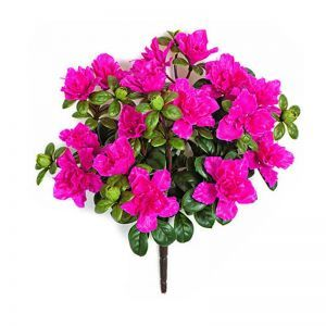 16in. Outdoor Artificial Azalea Bush - Pink/Beauty