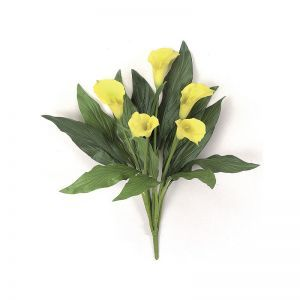 18in. Calla Lily Bush - Yellow|Indoor - NFR