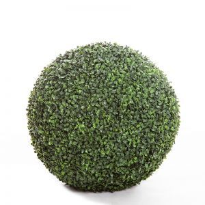 21in. Outdoor Artificial Boxwood Topiary Ball