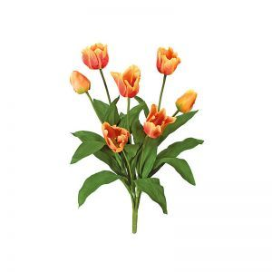 28in. Tulip Bush - Orange|Indoor - NFR