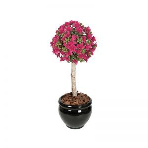 3.5' Outdoor Artificial Azalea Ball Topiary - Pink Beauty