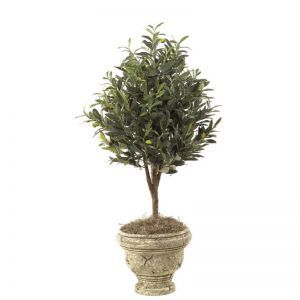 3' Artificial Olive Tree Topiary - Indoor