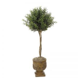 4.5' Artificial Olive Topiary Tree - Indoor