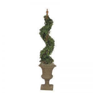 "46"" Artificial Cypress Spiral Topiary - Indoor"