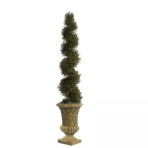 5' Artificial Cypress Spiral Topiary - Indoor