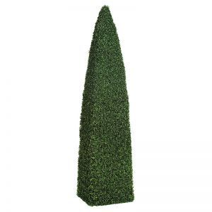 4' Outdoor Boxwood Obelisk Topiary