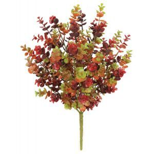21in. Artificial Eucalyptus Bush - Outdoor Rated - Multi-color