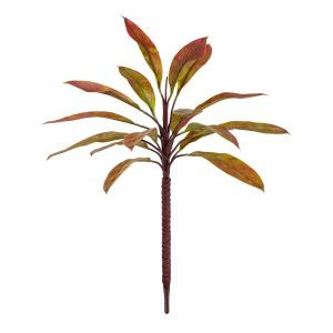 Outdoor Rated Artificial Cordyline Plant w/ Red and Green Leaves