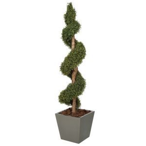 6' Polycaise Spiral Topiary - Outdoor