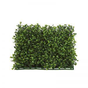 10in. X 10in. Artificial Boxwood Mat Green - Indoor