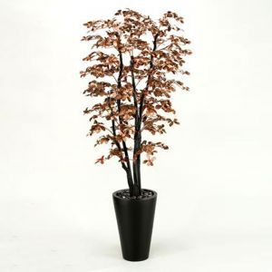 7' Copper Black Olive Tree in Resin Planter