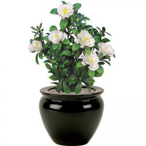 18in. Cream Azalea Bush, Indoor Artificial