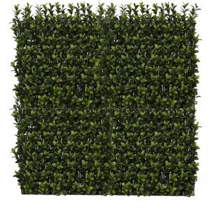 10in. X 10in. Duraleaf Boxwood Wall Mat, Outdoor