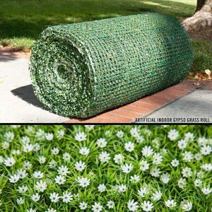 Indoor Artificial Flowering Gypso Grass Roll|3 Sizes to Choose From