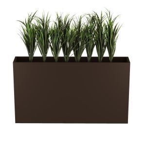 Lush Grass in Tall 36in.H Modern Planter, Outdoor Rated