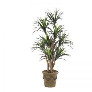 5' Liriope Tree with Natural Trunks, Outdoor Rated