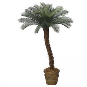 6' Artificial Medium Sago Palm Tree, Outdoor Rated
