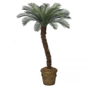6' Artificial Small Sago Palm Tree, Outdoor Rated