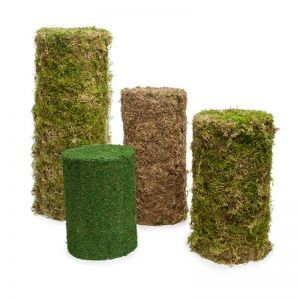 2'H Real Moss Topiary Pillar/Cylinder