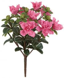 Artificial Outdoor 14in. Tall Pink Azalea Bush