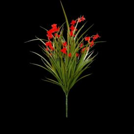 22in. Freesia Bush, Red- Outdoor Rated