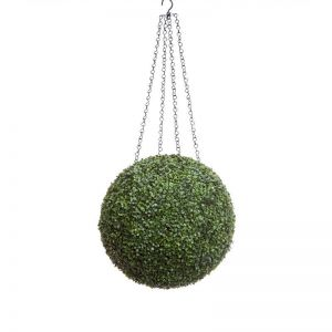 19in. Artificial Boxwood Hanging Sphere, Short Grain, Outdoor Rated
