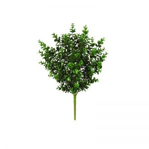 21in. Artificial Eucalyptus Bush - Outdoor Rated - Tutone Green