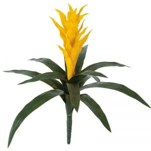 22in. Artificial Guzmania Bromeliad - Outdoor - Yellow
