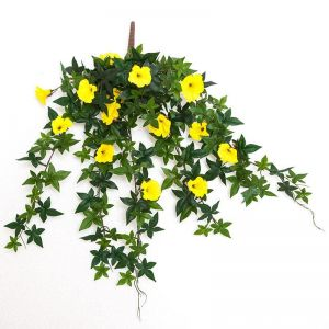 26in. Morning Glory Vine, Partial Exposure UV Rated - Yellow