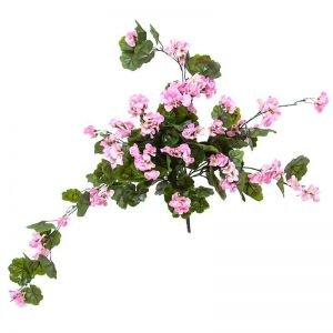 24in. Pink Geranium Hanging Vine, Partial Exposure UV Rated