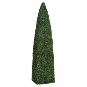 5' Outdoor Boxwood Obelisk Topiary