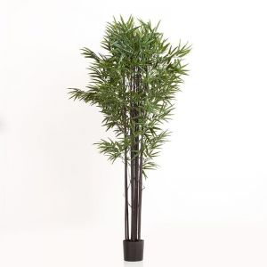 79in. Black Bamboo Cluster in Weighted Base, Outdoor Rated
