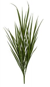 Artificial UV rated Outdoor Grass Bush in Tutone Green - 65 inches Tall