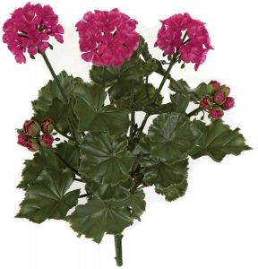 17in. Artificial Geranium Bush - Pink/Beauty
