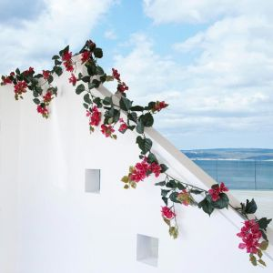 Artificial Bougainvillea Vine Garlands for Outdoor Use - 7 Colors Available!