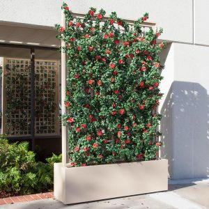 Trellis Space Dividers with Indoor Artificial Flowering Vines