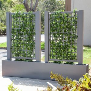 Trellis Space Divider with Ivy Vines, Outdoor 36inL x 12inW x 72inH