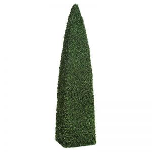 Fire Retardant Artificial Obelisk Topiaries