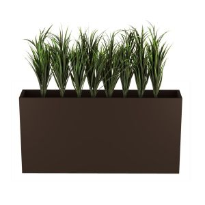 Lush Grass in 24in.H Modern Planter, Outdoor Rated, 44in. Overall Height when Planted