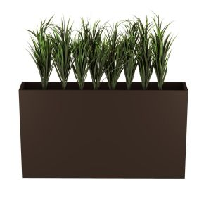 Lush Grass in 36in.H Modern Planter, Outdoor Rated, 56in. Overall Height when Planted