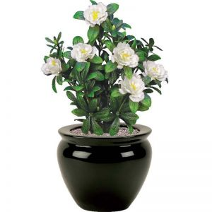 18in. Cream Azalea Bush, Outdoor Artificial