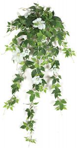 28in. Clematis Vine - Cream/White,  Indoor