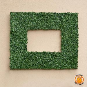 Duraleaf Plush Japanese Boxwood Frame, 60inL x 42inH w/ 36inL x 18inH Opening