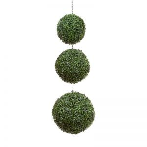 Standard 3 Ball Hanging Topiary Spheres, Outdoor Rated