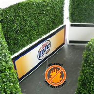 Fire retardant hedges and space dividers